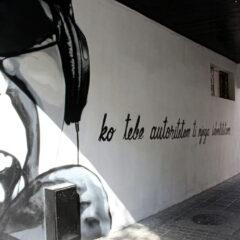 Mural posvećen Miomiru Grujiću Fleki